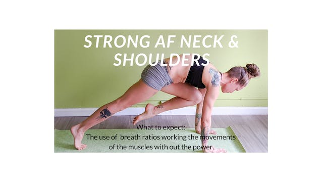 Strengthening your Neck and Shoulders