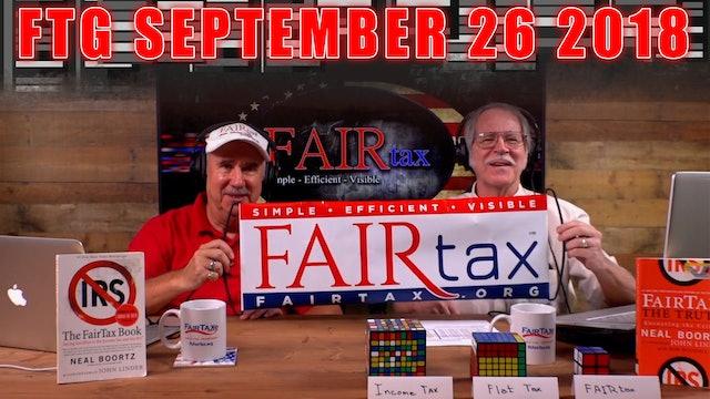 The Fair Tax Guys Wednesday September 26, 2018
