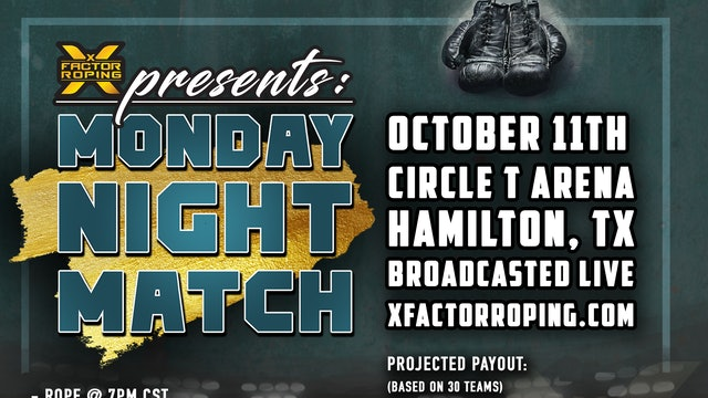 Monday Night Match Roping 10/11