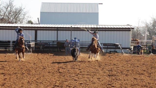 Roping Low Headed Steers with JoJo Le...