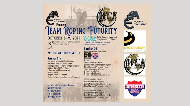 Equine Exchange Team Roping Futurity Day 2