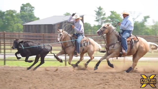Casey Hicks Roping Practice Session