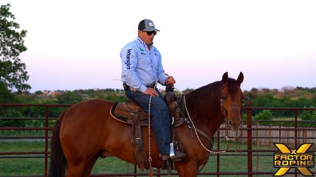 How Rhett Baker Likes His Horses To Work and Score At The Rope Horse Futurity