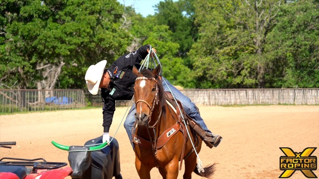 Clay Tryan's Roping on the Gain Dummy Drill