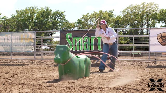 Roping the Front Leg with Jackie Craw...