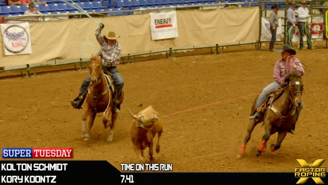 2019 Super Tuesday Team Roping Round 1