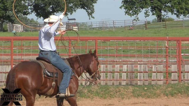 Practicing on a Younger Heel Horse wi...