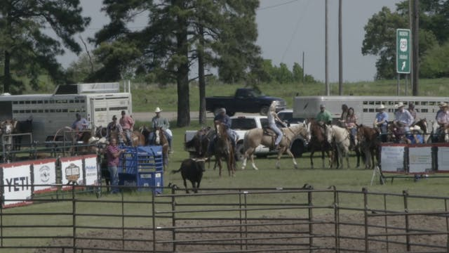 Mike White Pasture Roping Round 2 Part 1