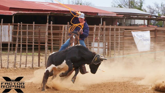 Cody Snow and Wesley Thorp NFR Practice