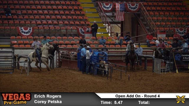 """Pre-Vegas """"Add On Roping"""" Rounds 3, 4..."""