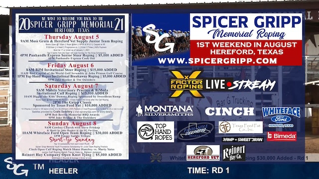 Spicer Gripp Whiteface Ford Open Team Roping - $30,000 ADDED - Part 1
