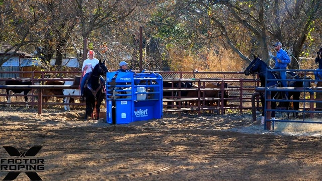 Cody Snow and Wesley Thorp NFR Practice Day 2