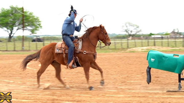 Left Rein Length When Roping The Sled With Jade Corkill