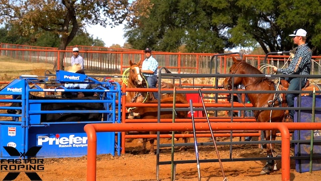 2019 NFR Practice Session with Ryan Motes, Chase Tryan and Brenten Hall Part 1