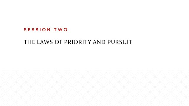 Session Two | The Laws of Priority an...