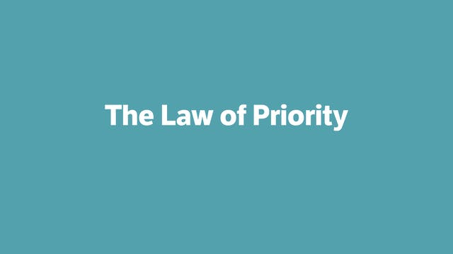 The Law of Priority