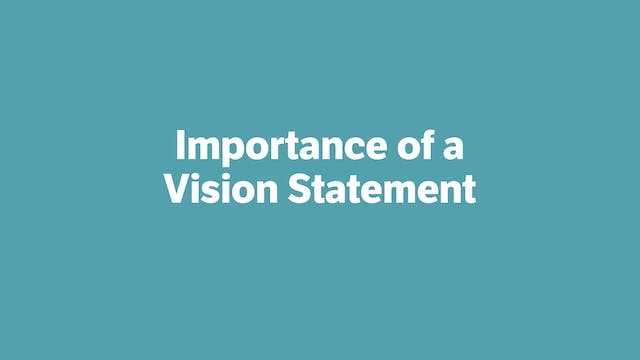 Importance of a Vision Statement