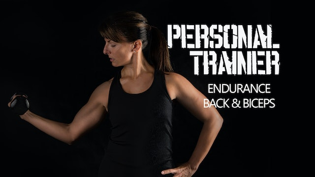 Personal Trainer Endurance Back & Biceps