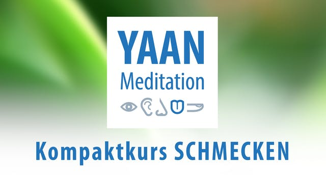 Yaan Meditation Kompaktkurs SCHMECKEN