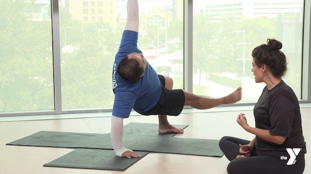 Lizard Lunge Step-through - Yoga Brea...