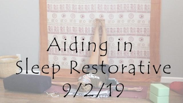 Aiding in Sleep Restorative
