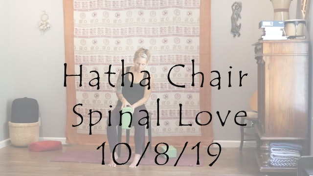 Hatha Chair Spinal Love – Gentle/Beginners