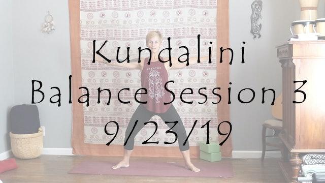 Kundalini Balance Session 3 – All Level