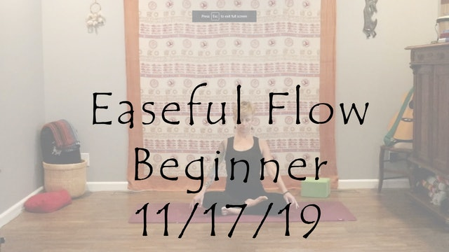 Hatha - Easeful Flow Beginner Level 1/2
