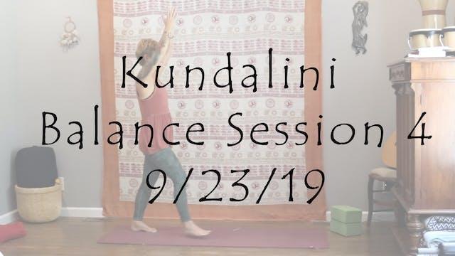 Kundalini Balance Session 4 – All Level