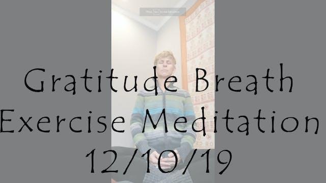 Gratitude Breath Exercise Meditation