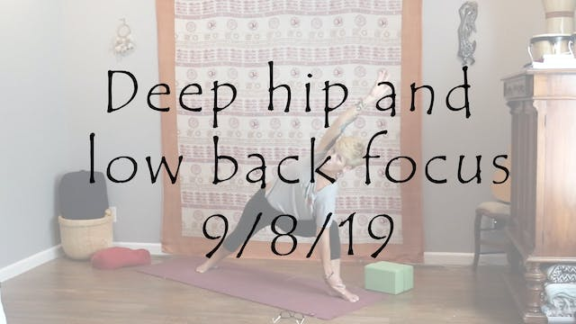 Hatha 1/2 Deep hip and low back focus