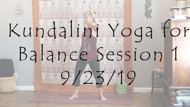 Kundalini Yoga for Balance Session 1 All Level