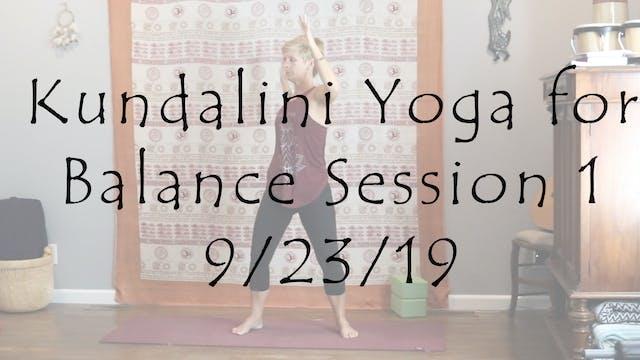 Kundalini Yoga for Balance Session 1 ...