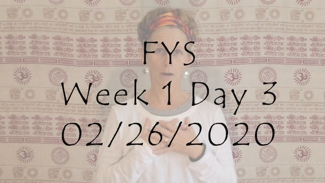 FYS Week 1 Day 3