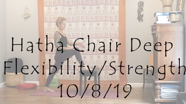Hatha Chair Deep Flexibility & Strength – All Level