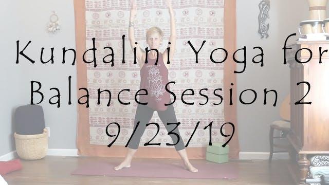 Kundalini Yoga for Balance Session 2 ...