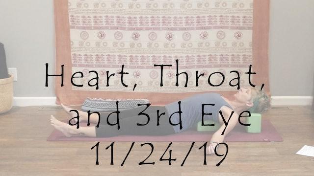 Heart, Throat, and 3rd Eye (Yin)