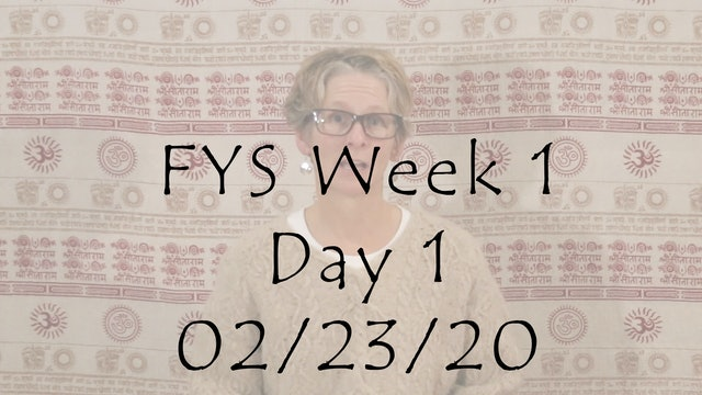 FYS Week 1 Focus