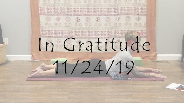 In Gratitude (Yin)