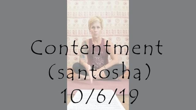 Contentment (santosha) = Time Management