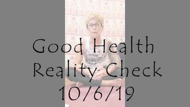 Good Health Reality Check