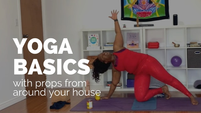 Yoga Basics with Props From Around Your House