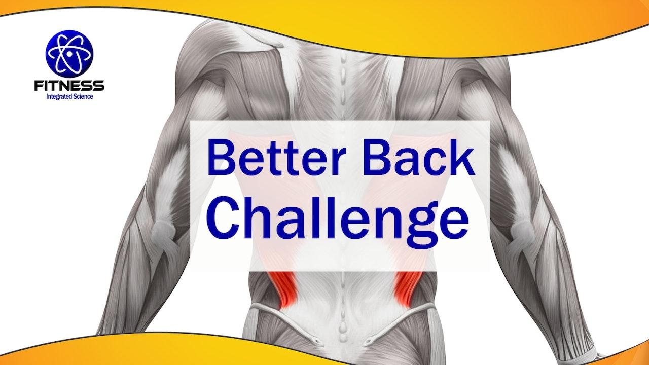 Better Back Challenge