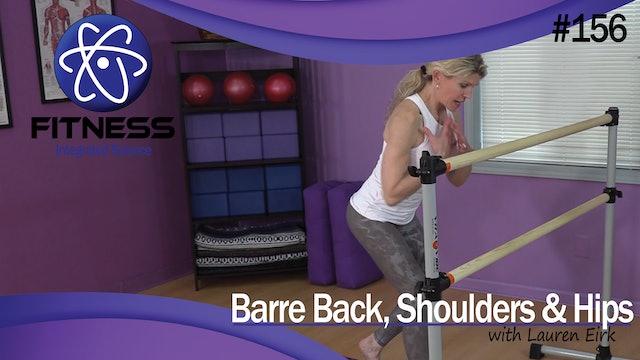 Video 156 | Barre Back, Shoulders, & Hips (60 Minute Workout) with Lauren Eirk