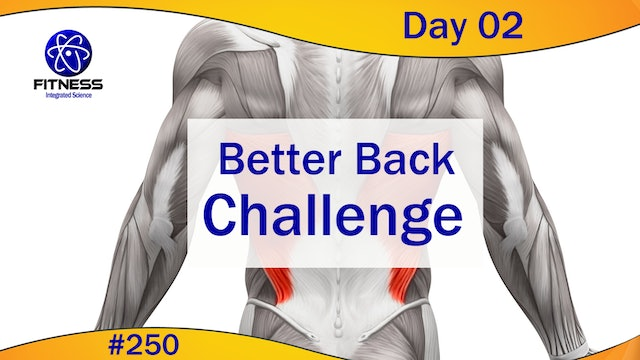 Video 250   Better Back Challenge Day 02 (30 minute workout) with Lauren Eirk