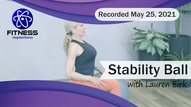Recorded | Live Event with Lauren Eirk  May 25th at 9:30am | Yoga Pilates Fusion