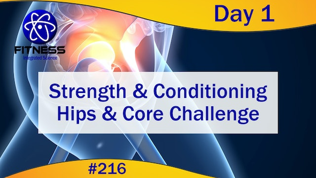 Video 216 | Strength and Conditioning Hips & Core Challenge Day 1:  Lauren Eirk