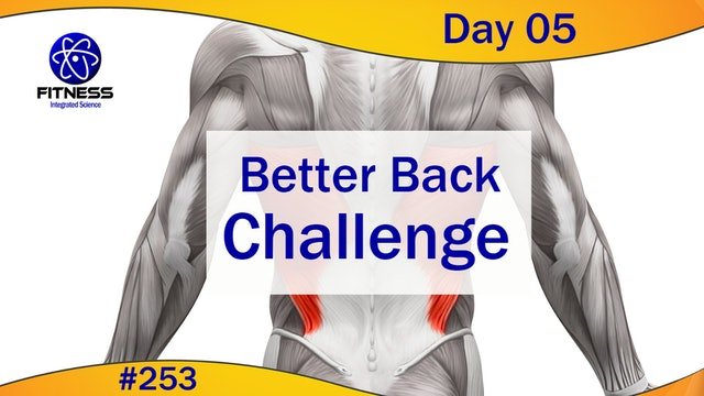 Video 253   Better Back Challenge Day 05 (30 minute workout) with Lauren Eirk