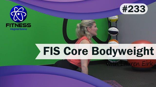 Video 233 | FIS Core Bodyweight Worko...