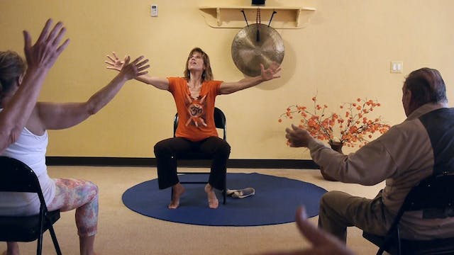 (1 Hr) Chair Yoga Class: Banishing Back Pain Naturally with Sherry Zak Morris